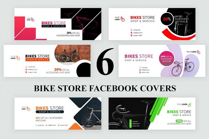 Bike Store Facebook Covers