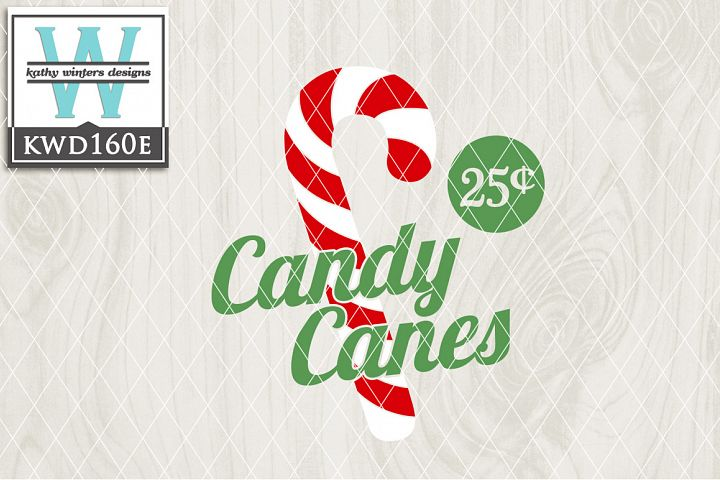 Christmas SVG - Candy Canes KWD160E