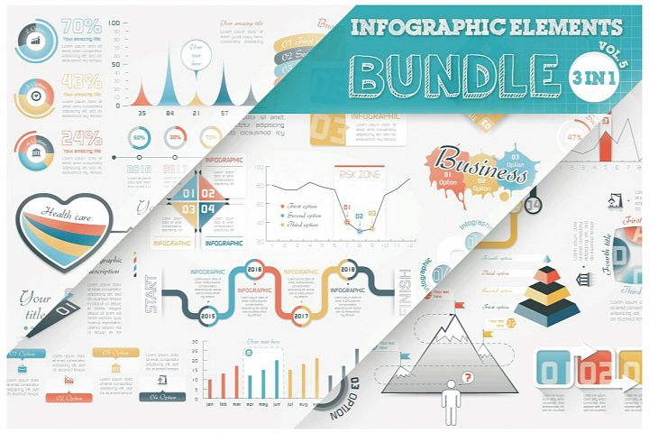 Infographic Elements Bundle 3 in 1 (vol 5)