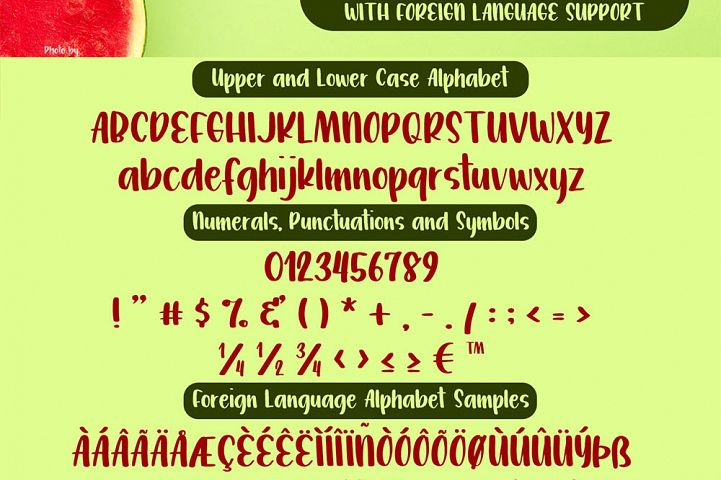 Watermelon Jelly Brush Print Typeface example image 3
