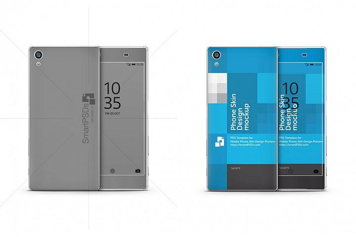 Sony Xperia Z5 Premium 2015 Vinyl Skin Design Mockup