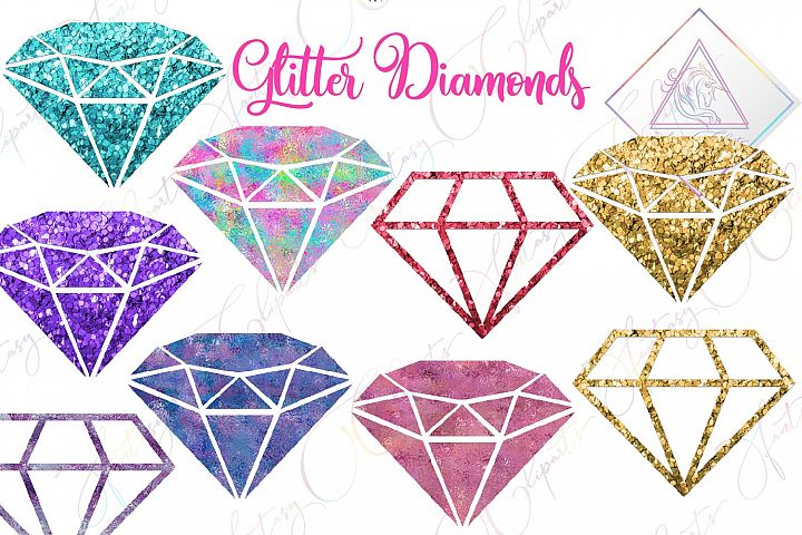 Glitter Diamonds Clipart