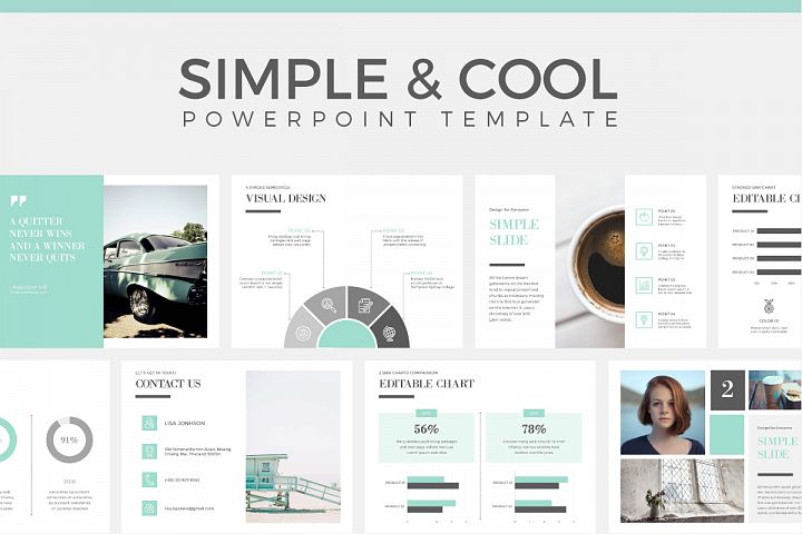 Simple & Cool PowerPoint Template
