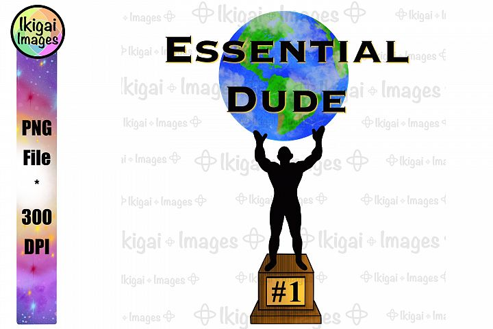 Essential Employee Trophy For Men PNG Image For Sublimation