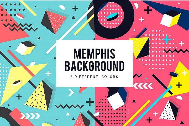 Memphis geometric background