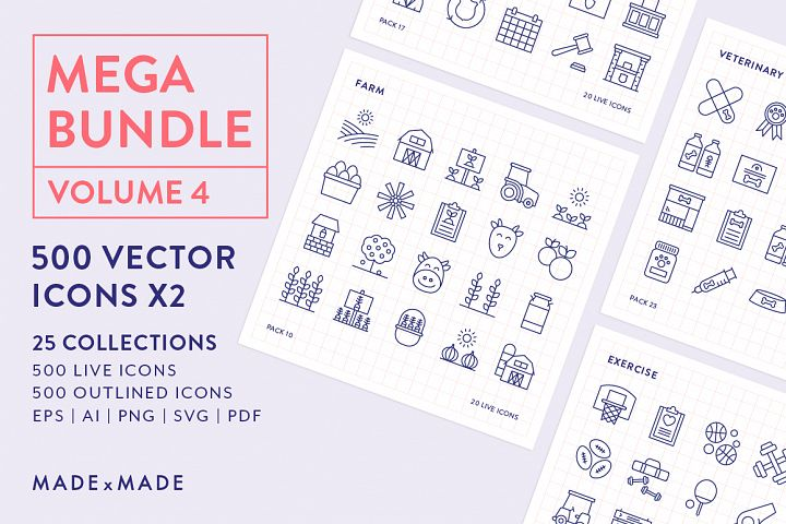 Line Icons – Mega Bundle Vol 4