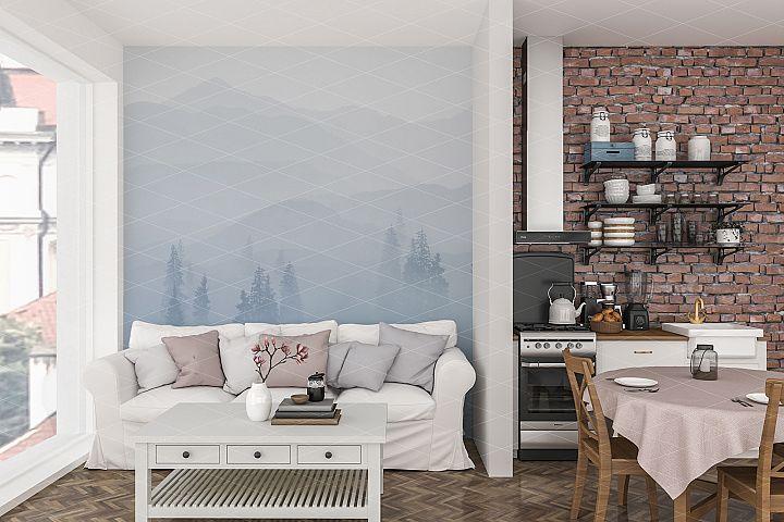 Wall mockup - Interior mockup - Wallpaper mockup