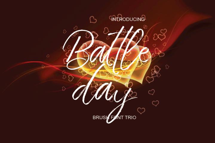 Battle Day Brush Font Trio