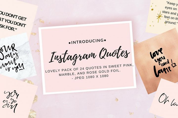 Instagram quote pack