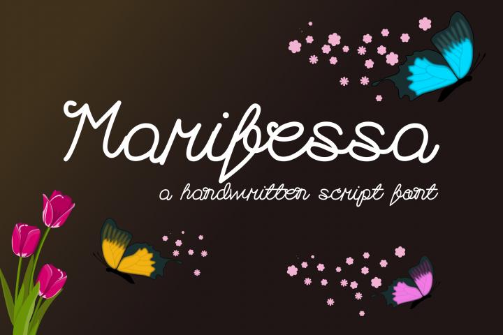 Marifessa Font - a handwritten script font