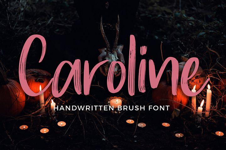 Caroline Handwritten Brush Font