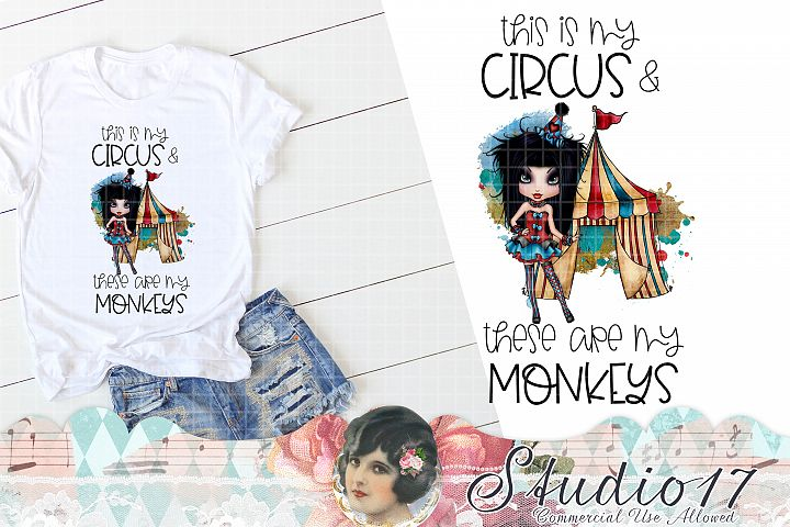 This is my Circus These Are My Monkeys Design