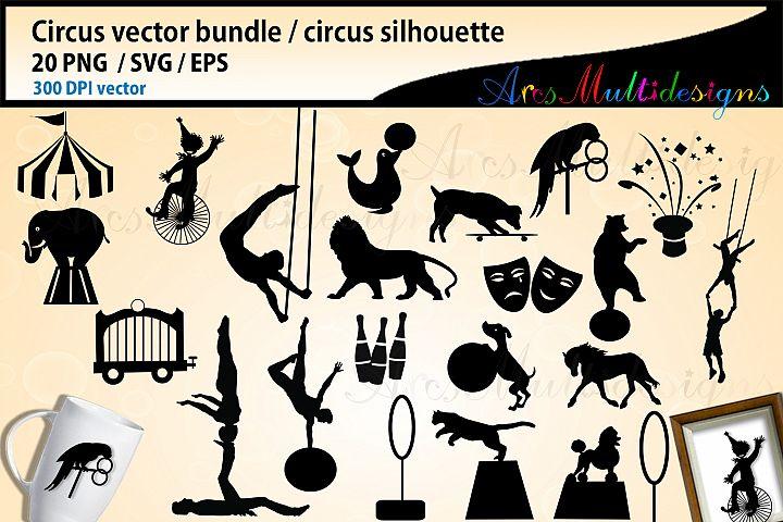 Circus SVG bundle, Circus silhouette vector, circus vector