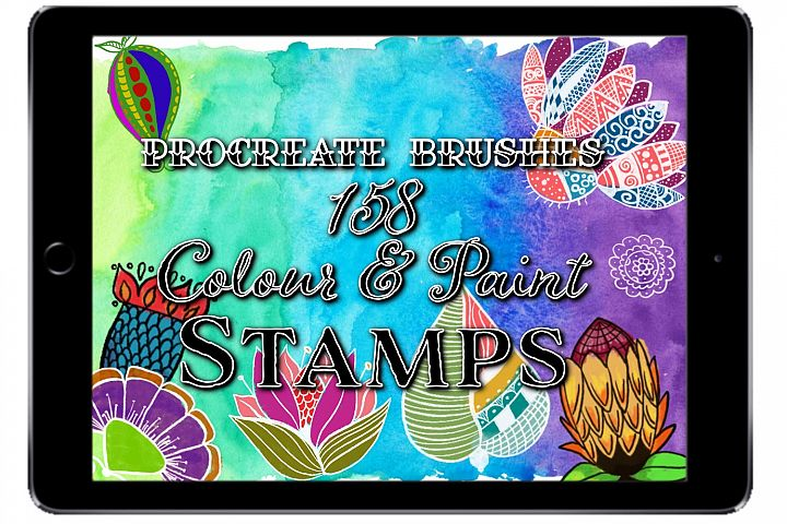 158 Procreate StampBrushes