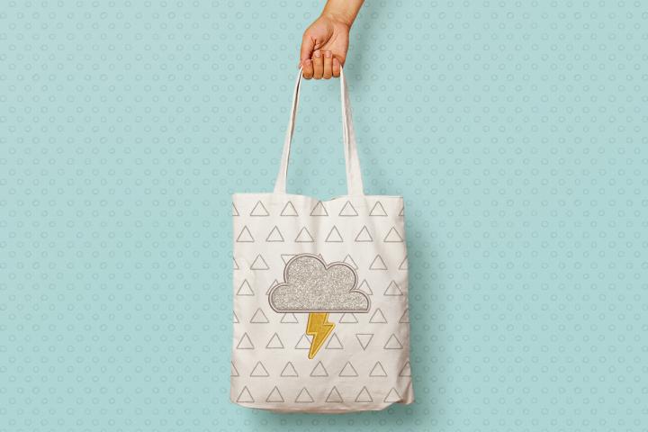 Storm Cloud Applique Embroidery
