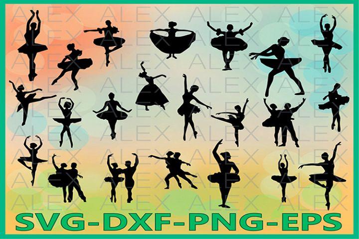 Ballet SVG Files, Ballet silhouettes, Ballerina SVG