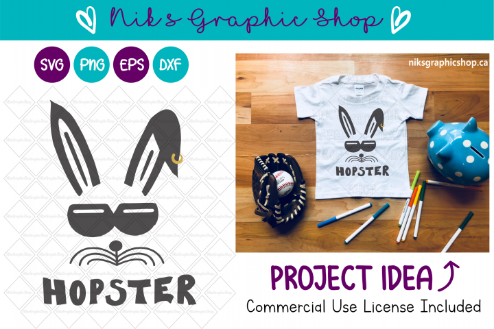 Hopster Svg, Easter Svg, Bunny Svg, Easter Cut File, Funny