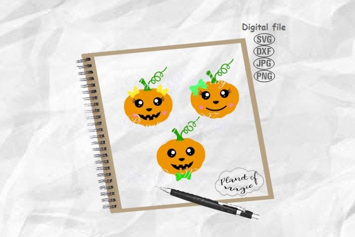 Pumpkin Svg, Halloween Svg, Cute Pumpkin Svg, Fall Svg