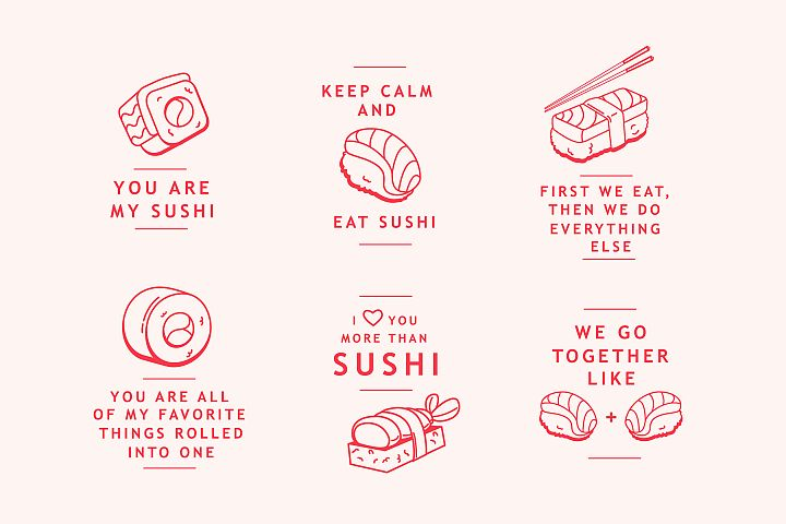 Sushi Lover Badges