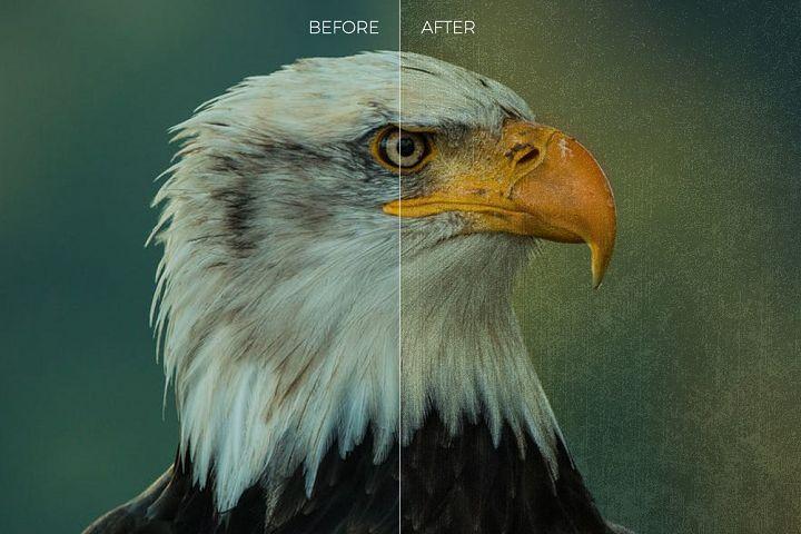 Grunge Texture Overlays example 1