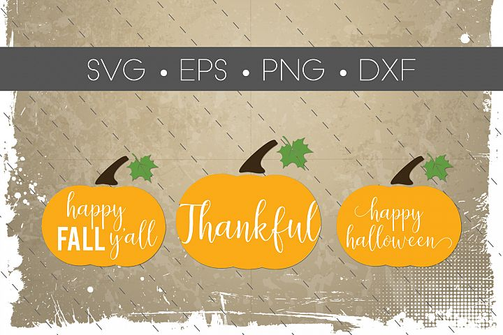 Fall Pumpkin SVG and EPS Silhouette Files