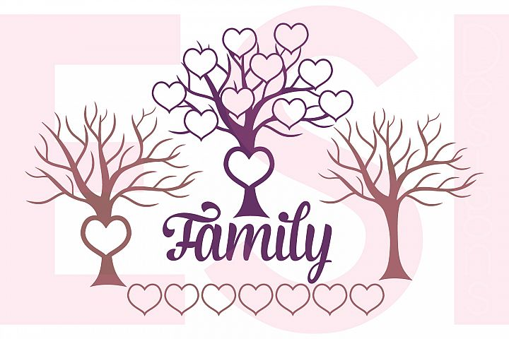 Family Tree Design with Extra Hearts