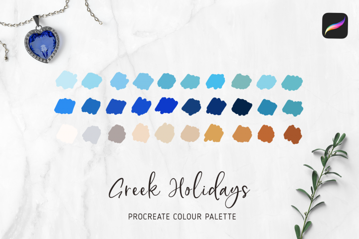 PROCREATE Color Palette | My Greek Holidays Santorini