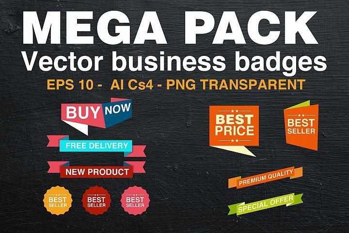 MEGA PACK - Vector business badges