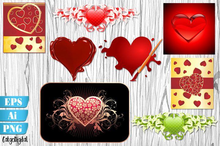Heart Vector Illustrations