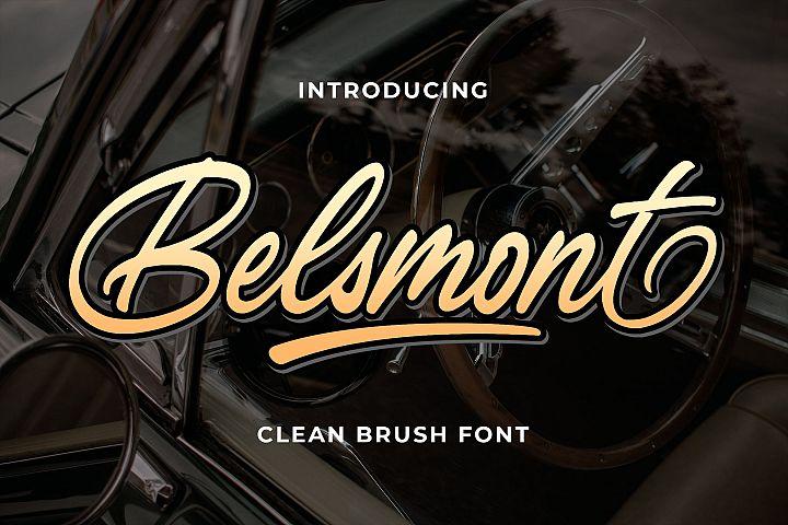 Belsmont - Clean Brush Font