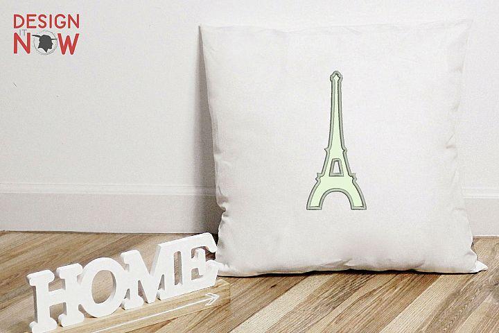 Eiffel Tower Applique Design, Paris Embroidery Pattern