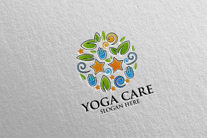 Yoga and Spa Lotus Flower logo 62