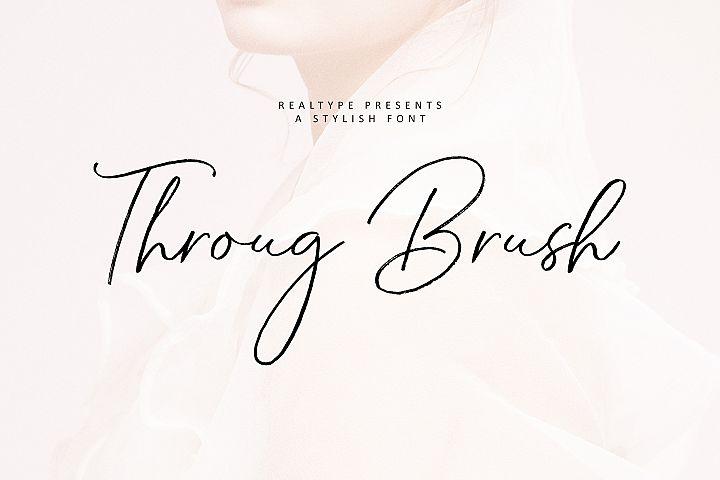 Throug Brush