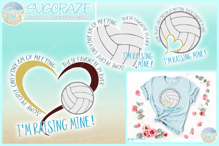 Raising My Favorite Volleyball Player Svg Dxf Eps Png Pdf