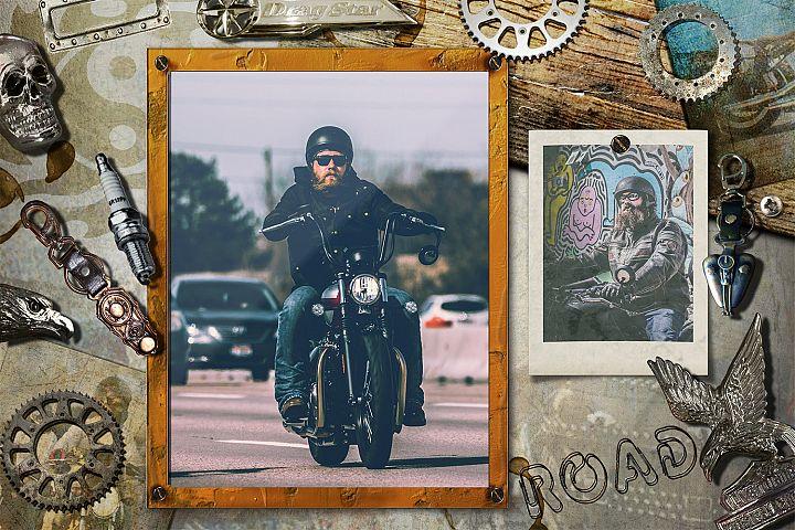 Live to Ride - Digital Scrap Kit & Mockup Scennery PSD