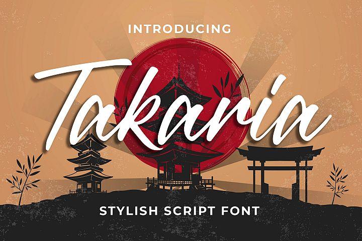 Takaria - a Stylish Sciprt Font
