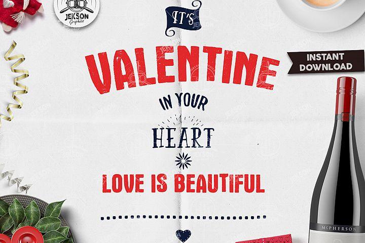 Valentines Day Lettering SVG / Typography Valentine Overlay