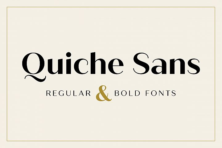Quiche Sans Regular and Bold Fonts