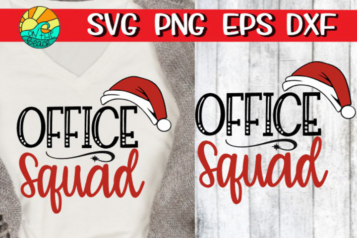 Office Squad with Santa hat - Christmas SVG