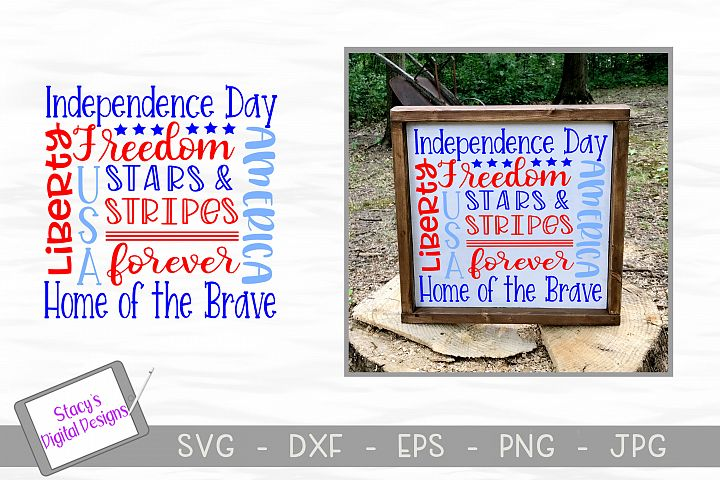 Patriotic Subway Art SVG - Fourth of July Subway Art