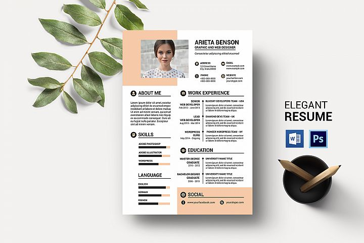 One Page Clean Resume Template