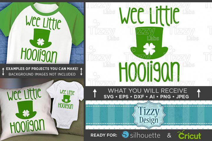 Wee Little Hooligan SVG File - Kids St. Patricks Day - 1071
