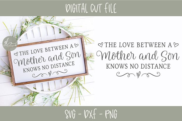 The Love Between A Mother And Son - SVG Cut File