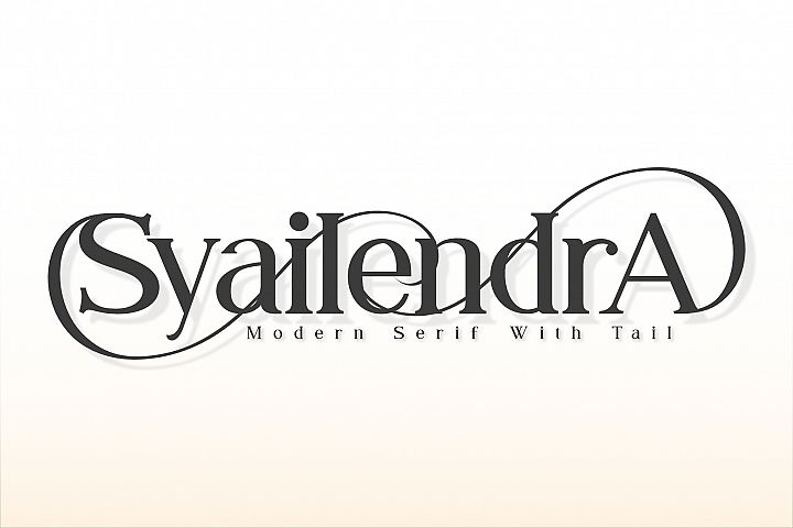Syailendra - Modern Serif With Tail