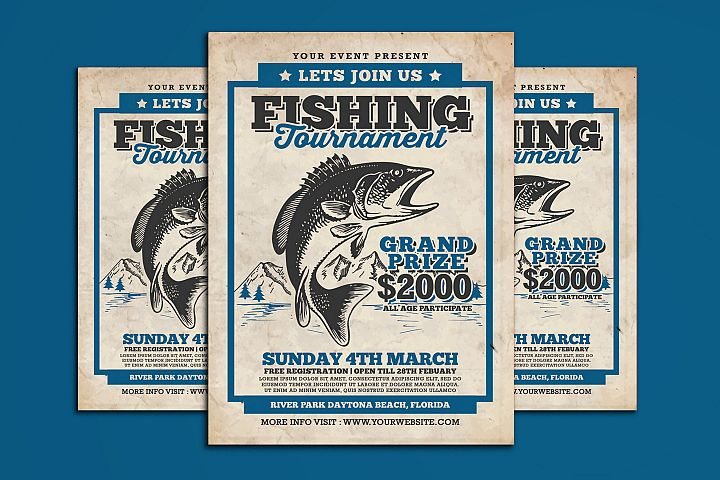 Fishing Tournament Flyer