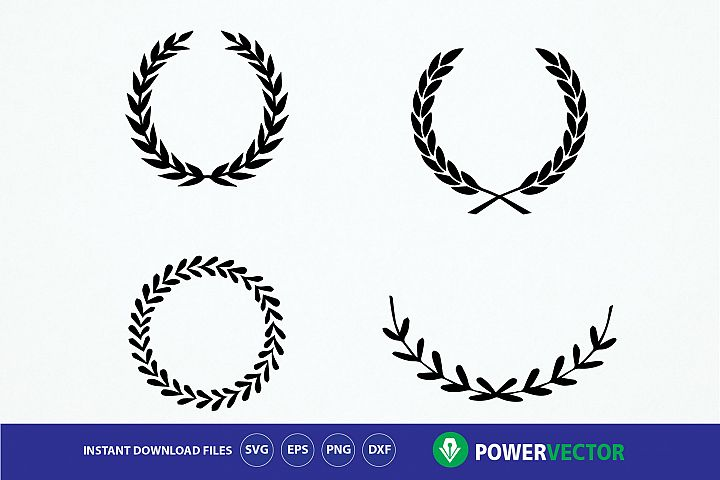Laurel wreaths Svg, Dxf, Eps, Png Files