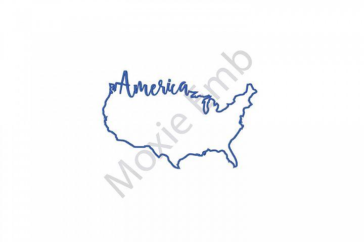 Patriotic Machine Embroidery Design,  America Embroidery Design