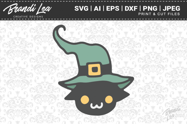 Cute Witch Cat SVG Cutting Files