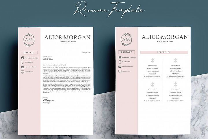 Professional Creative Resume Template - Alice Morgan - Free Design of The Week Design5