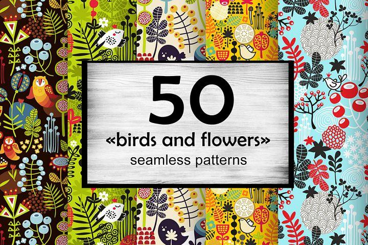 Big set of floral patterns